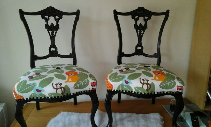 Two small side chairs